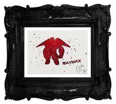 Big Hero 6 archival fine art print Baymax by TentakittyInk on Etsy