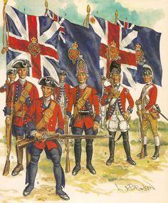 seven years war british uniforms - Google Search