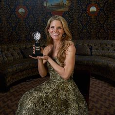 Kelli O'Hara in the #TodayTix Tony Awards photo lounge at the O&M after-party at The Carlyle. Photo by Amy Arbus.