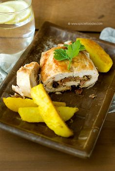Chicken Breast Stuffed with Pancetta, Onions and Nuts-Healthy Stuffed ...