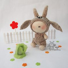 Pebble doll  Goatling  knitting pattern knitted by simplytoys13