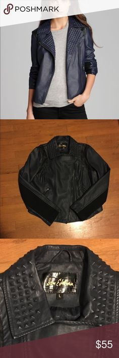 NWOT Sam Edelman Faux Leather Studded jacket NWOT Never worn. Faux leather with stretchy under arms. The one I am selling is black. Sam Edelman Jackets & Coats