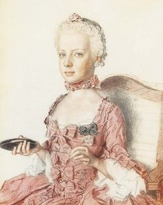 Colored pencil drawing of Marie Antoinette |Pinned from PinTo for iPad|