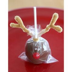 Rudolph Cake Pops- may try this with OREO balls....omg so good!!