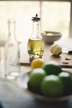 Homemade Lemon-infused Olive Oil - beautiful! And tasty for dipping and salads for Phase 3.