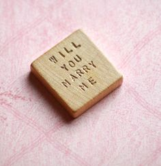 Will You Marry Me  Vintage Blank Scrabble Tile  by tipsywhimseyart, $6.00