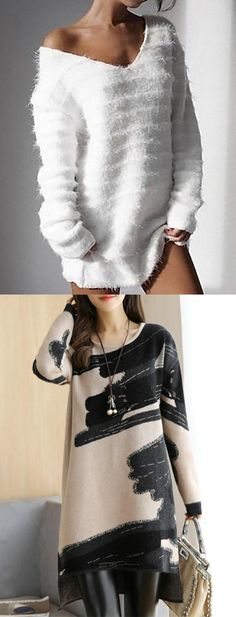 Hot Sale!Women Fashion Long Sleeve Kintted Autumn Winter Sweater