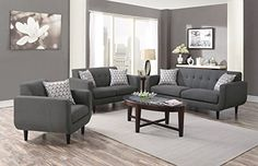 1PerfectChoice Stansall 3 Pcs Grey Linen Like Sofa Couch Set $1539.99 on amazon with free shipping