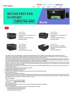 16 Best Ricoh Printer Support Toll Free Number+1(855)704-4301 images