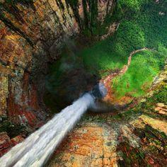 Dragon Falls (part of Angel Falls) - Venezuela