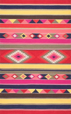 Amazon.com: nuLOOM SPFA01A Flatweave Ladonna Tribal Kilim Rug, 4' x 6' , Multicolor: Kitchen & Dining