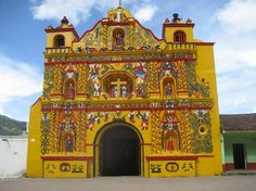 GUATEMALA: San Andres de Xecul. fucking amazing church...