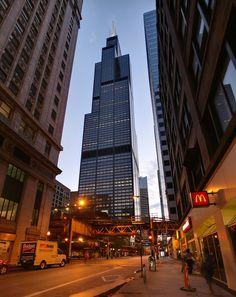 Willis Tower (442,1 m, Chicago/Etats-Unis, 1974)
