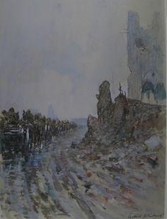 An ammunition column passing through Ypres, 1917