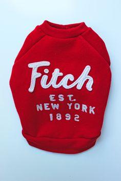 Red Fitch Dog Sweatshirt (Upcycled) by PupCycleCanada on Etsy Cheap Dog Clothes, Large Dog Clothes, Dog Christmas Clothes, Christmas Dog, Small Dog Clothes Patterns, Dog Closet, Yorky, Old Shirts, Dog Jacket
