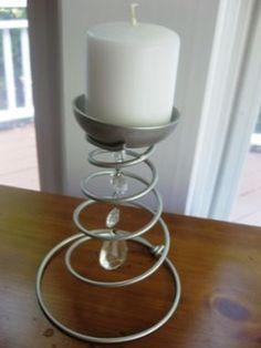 Editors Challenge #5- Bed Spring Candle Holder - JUNKMARKET Style