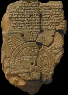 Mapamundi Babilonia. 500 a C. British Museum.