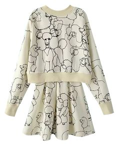 Dog Print Suit-dress