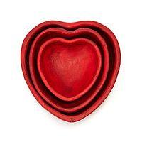 ANTIQUE NESTING HEART BOWL TRIO|UncommonGoods
