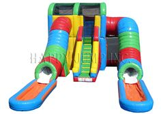 Inflatable Interactive Games: Happy Jump's Commercial Water Slide: A Well Insured Decision