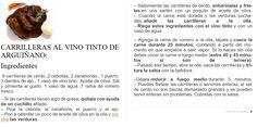 CARRILLERAS AL VINO TINTO DE ARGUIÑANO (pinchar en foto para ver mas grande)
