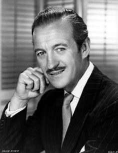 David Niven was a soldier who became the quintessential English actor in Hollywood before he was effectively banned from tinseltown becoming a tax exile. Hollywood Men, Hollywood Icons, Golden Age Of Hollywood, Hollywood Stars, Classic Hollywood, Old Movie Stars, Classic Movie Stars, Classic Movies, Famous Men