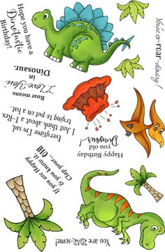 Dinosaur Cards, Clear Stamps, Love Art, Paper Cutting, Stamp Sets, Dinosaurs, Products, Ink Pads, Gadget