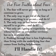 Feel The Fear And Do It Anyway Susan Jeffers Ebook