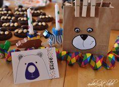 5. Geburtstag: Kindergeburtstag Bären Feier Gingerbread Cookies, Paper Shopping Bag, Party, Celebration, Kids, Gingerbread Cupcakes, Parties