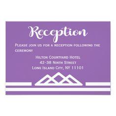 Retro Purple Reception Geometric Triangle Card