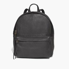 Our luxe take on a timeless style—the familiar, sporty backpack (zip pocket and all) remade in supersoft textured leather. Boardroom, locker room—you're going to want to carry this one everywhere.