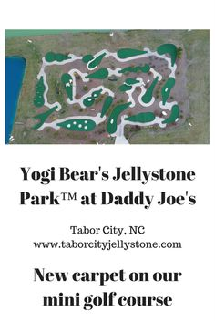 New carpet on our 18 hole mini golf course. Yogi Bear Jellystone Park, New Carpet, Golf Courses, Daddy, Camping, Mini, Campsite, Campers, Rv Camping