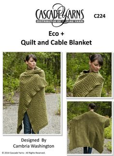 Quilt and Cable Blanket in Cascade Eco+ - C224. Discover more Patterns by Cascade Yarns at LoveKnitting. The world's largest range of knitting supplies - we stock patterns, yarn, needles and books from all of your favourite brands.