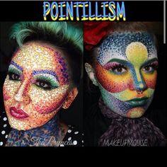 Pointillism makeup