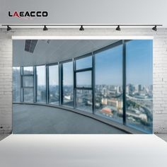 Sale Laeacco French Window View Platform City Scenery Photography Backgrounds Vinyl Custom Photographic Backdrops For Photo Studio. Click visit to check price
