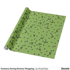 Greenery Sewing Notions Wrapping Paper