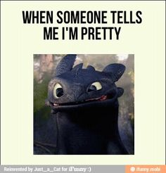 Toothless {When someone tells me I'm pretty... } HtTYD