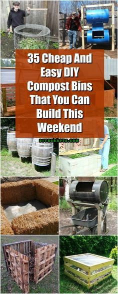35 Cheap And Easy DIY Compost Bins That You Can Build This Weekend #diy #woodworking #gardening #compost via @vanessacrafting