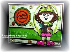 J. ATTERBURY CREATIONS: Glitzy Paper Doll Card...
