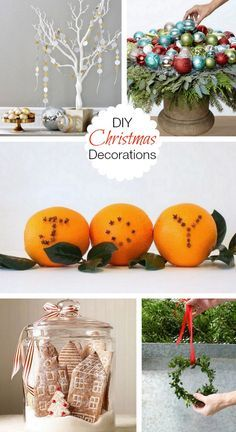 5 DIY Christmas Decorations for you to make this holiday. Easy craft ideas.