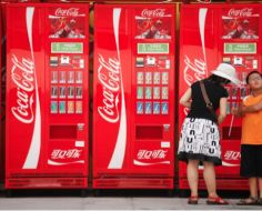 Coca Cola Vending Machine Takes Coins Of Any Currency