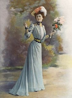 1901 July, Les Modes Paris - Afternoon dress by Rouff
