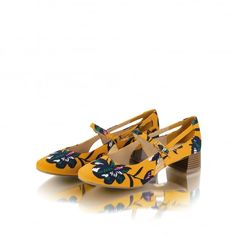 0fb426b9982 Iris Ochre Low Heel Vintage Style Ruby Shoo Shoes New Eshoes UK