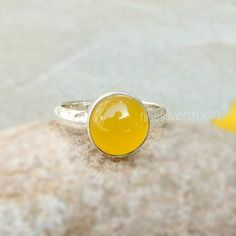 Items similar to Yellow Chalcedony Ring Yellow Chalcedony Sterling Silver Ring Round Gemstone Stacking Rings Handmade Jewelry birthday Gift size 4 5 6 7 8 9 on Etsy Jewelry Gifts, Handmade Jewelry, Yellow Rings, Messenger Bags, Stacking Rings, Natural Gemstones, Making Ideas, Sterling Silver Rings, Sunshine
