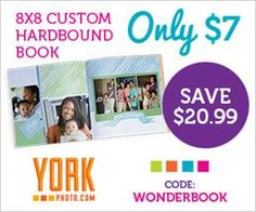 ****York 8x8 Custom Hardbound Book ONLY $7.00 (Save $20.99)!!**** - Krazy Coupon Club
