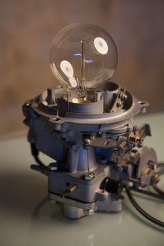 Carburetor lamp / Industrial Lamp /Vintage lamp / Steampunk