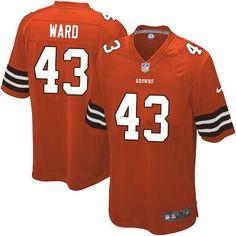 youth nike cleveland browns 43 t.j. ward elite orange alternate nfl jersey sale