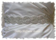 Beaded Rhinestone Crystal Bridal Belt, Wedding Dress Sash No. 1126S2-18 - Best Seller - Made to Order Fashion Accessory. $98.00, via Etsy.