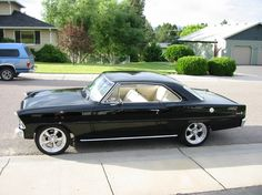 1967 Chevy Nova SS - Black    This is quite possibly m'dream car right now.