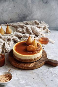 Hruškový Cheesecake s Karamelom s príchuťou hurškovej brandy Cheesecake Recipes, Dessert Recipes, Healthy Cookies, Cheesecakes, Food Inspiration, Baked Goods, Food And Drink, Cooking Recipes, Sweets